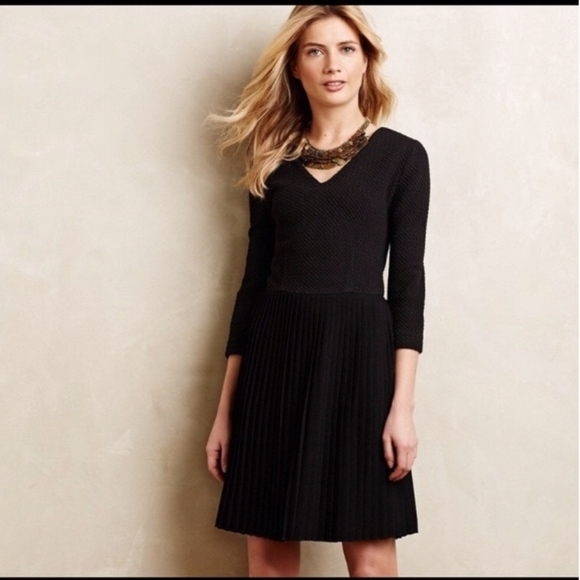 Anthropologie Dresses & Skirts - Anthropologie dress dress with pleated skirt Small